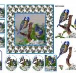 bluetits card & toppers pic